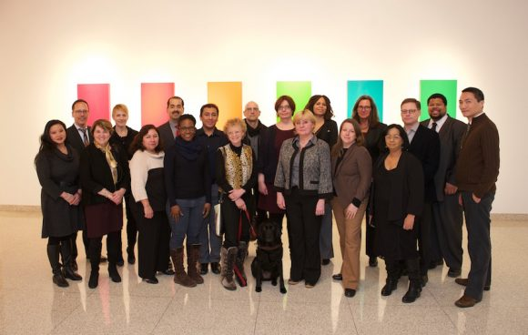 Faculty fellows with BMCC leadership and American Express sponsor.